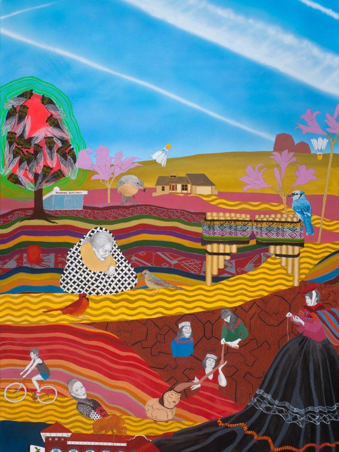 """Ch'uyma, Ch'uyu Sunqu."" by Maria Calderon, 2018 NALAC Fund for the Arts Grantee"