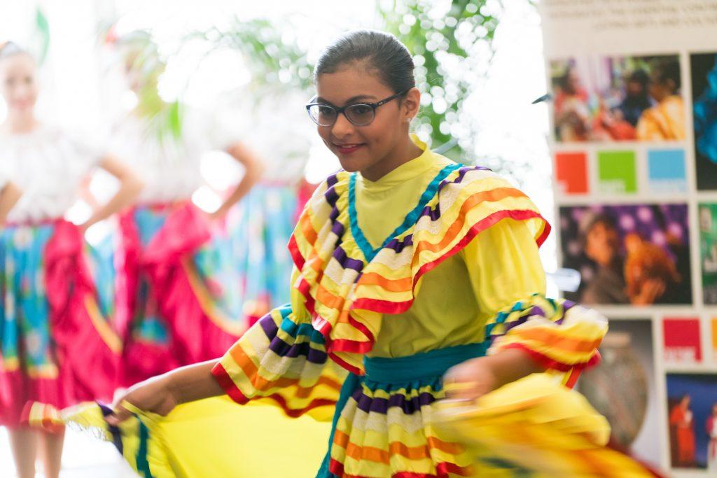 El Alma de la Luna Dance Company performs during openig session at NALAC Regional in Charlotte, NC.